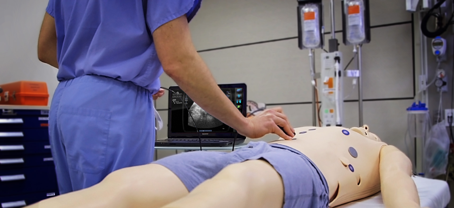 SonoSim LiveScan™ with Mannequin and Tags
