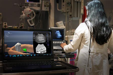The SonoSimulator transforms your computer into a portable ultrasound simulator